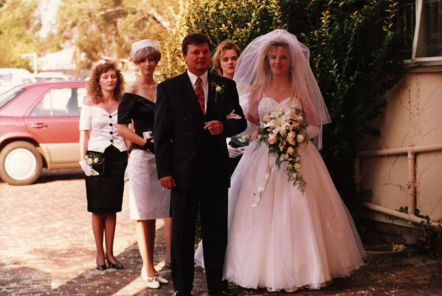 Getting married for the first time... in Benoni... at Farrarmere Assembly of God church (April 1992).