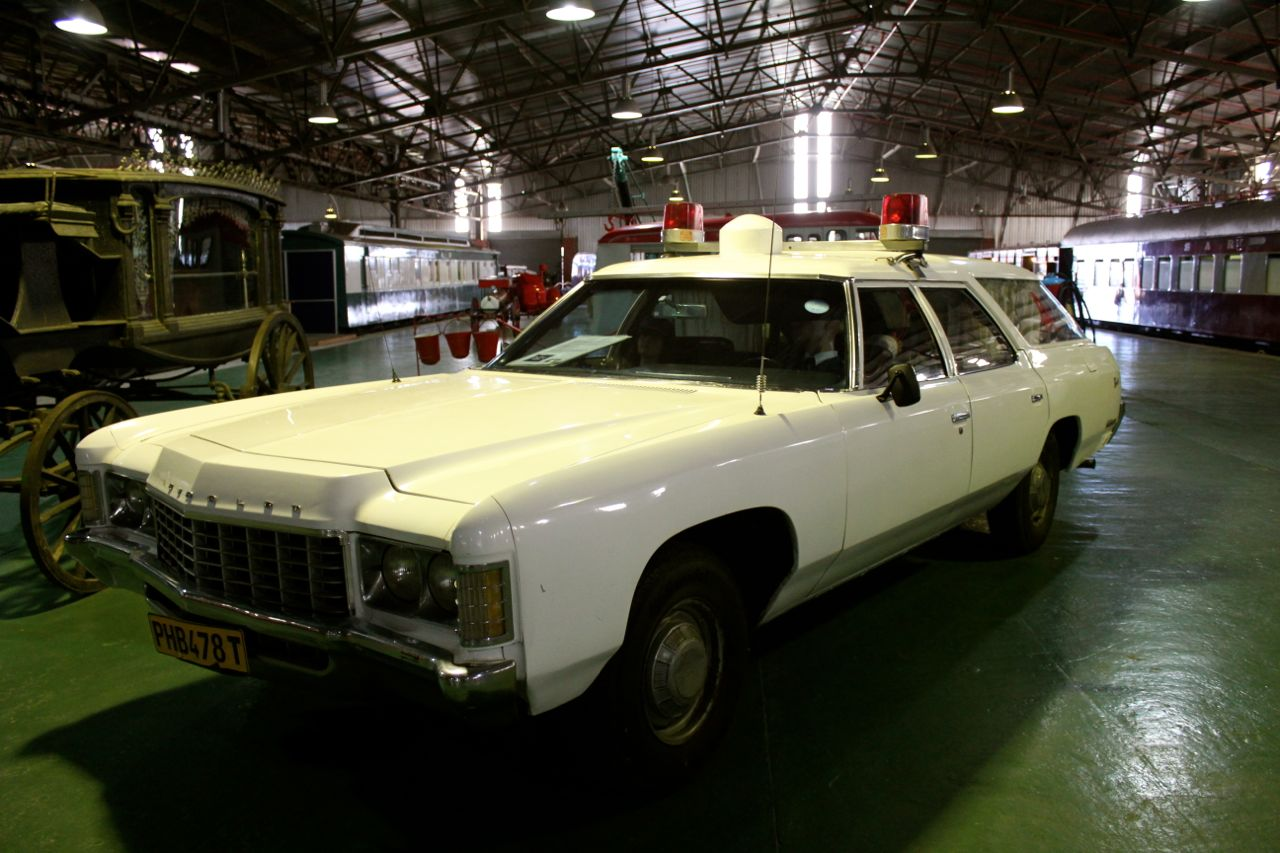 An old ambulance that reminds me of the JFK movie...
