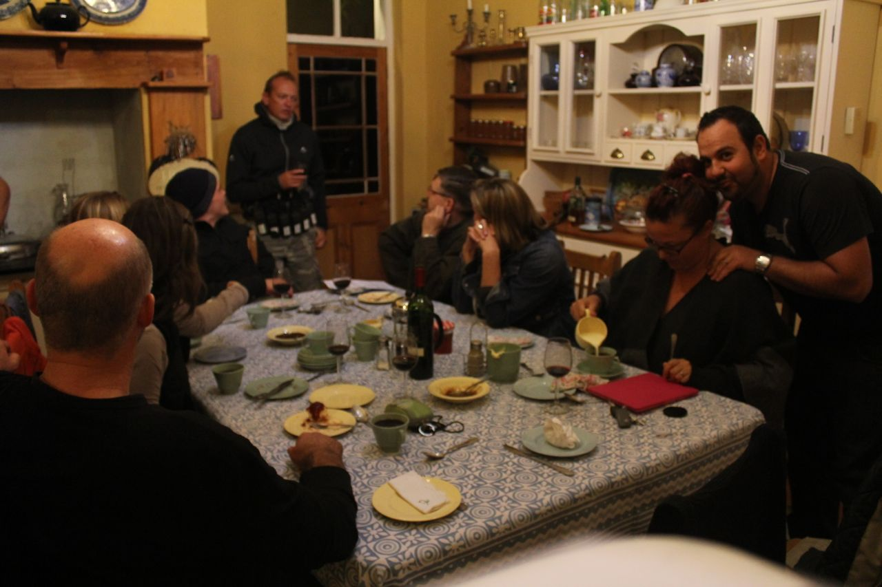 The Klaarstroom B & B kitchen.... (many hours of great memories... interesting conversations and fantastic food!)