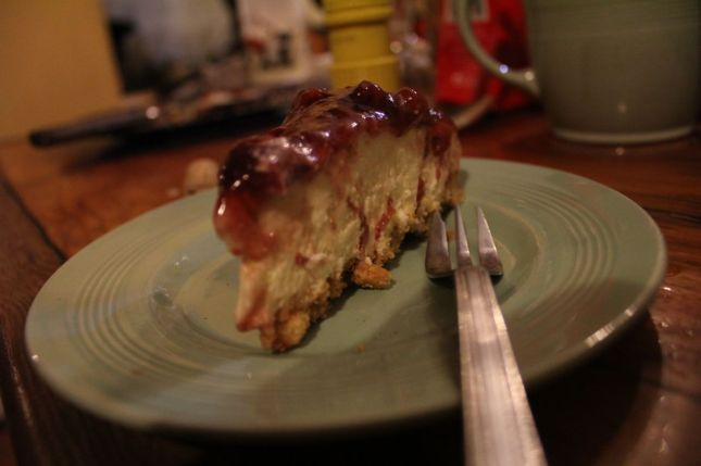 Sharon's ridiculously awesome cheesecake!