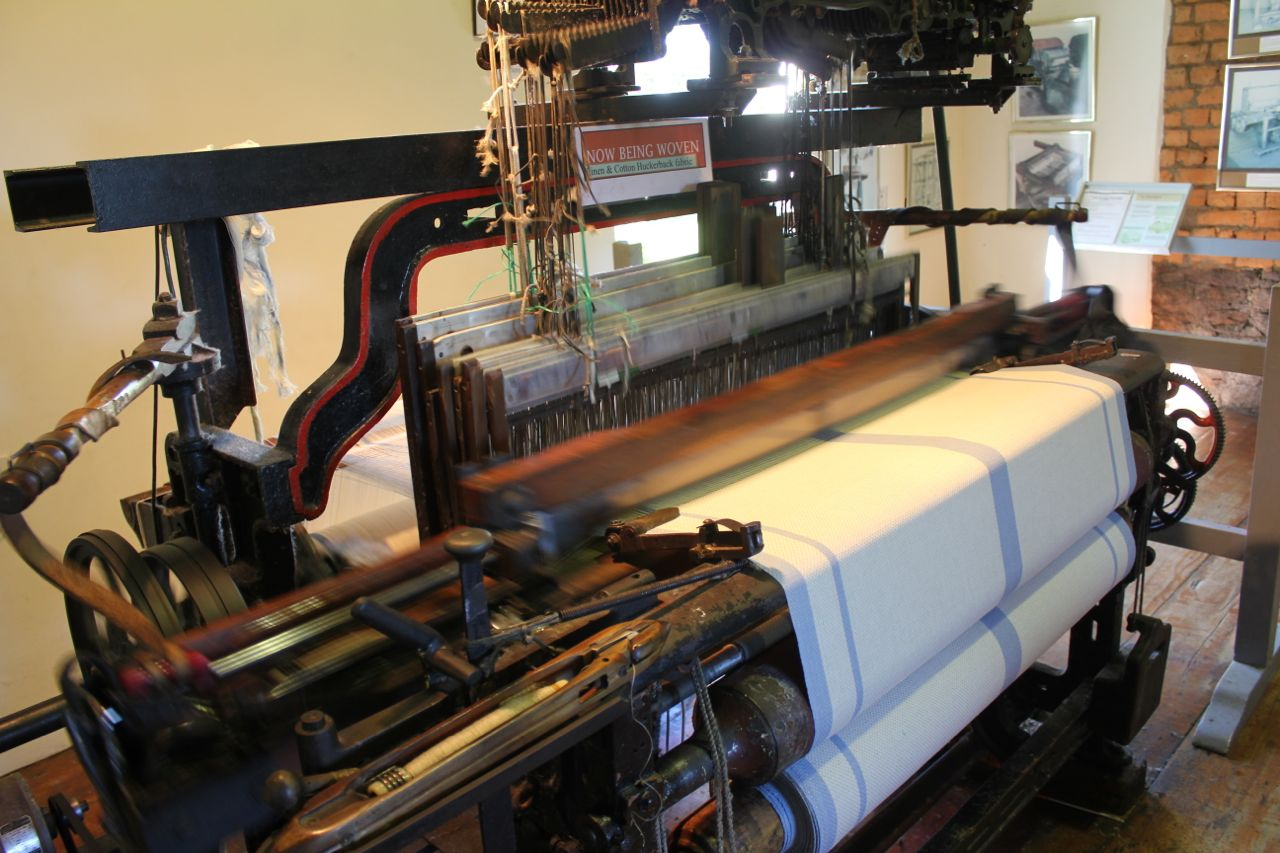 A 19th century loom in action...