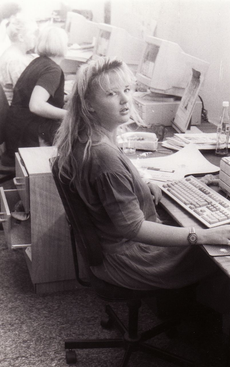 "This was taken in 1993, when I worked at a newspaper as ""Junior Graphic Designer""."
