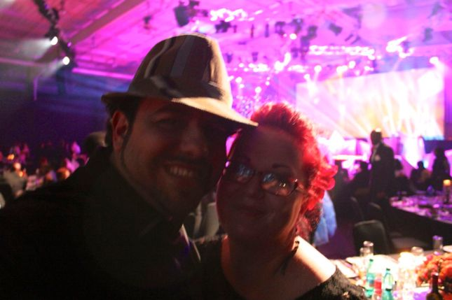 It's a bit of a crappy photo... but this is Nick and I at this year's SAFTA's (South African Film & Television Awards).