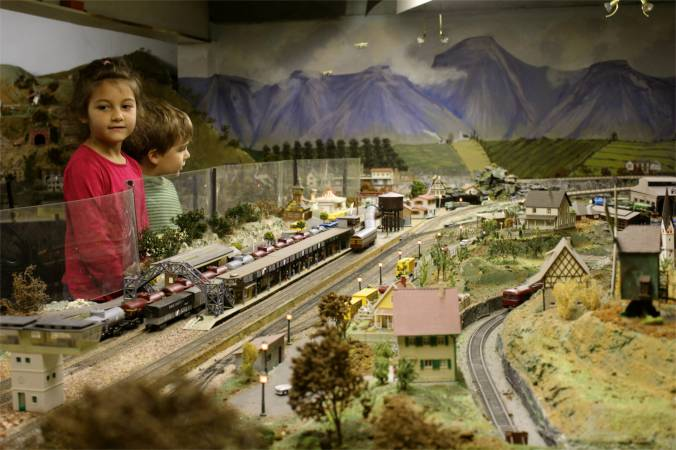 Miniature model trains and towns... one of my bucket-list destinations is Miniature Wonderland in Germany...