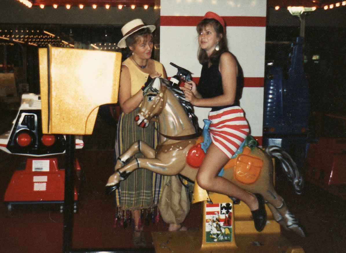 For most of my teens, I wore hats (which is why I got the Hat nickname somewhere around the age of 14 or 15)... This photo is of me (on the left) with my friend Tracy... (who, incidentally, is also wearing one of my hats in this pic)...