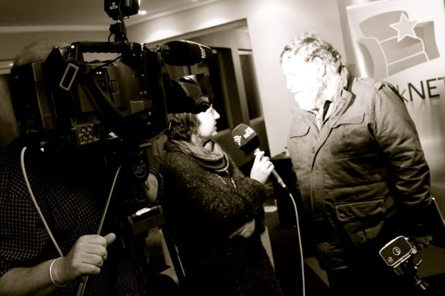 Koos (the director) being interviewed...