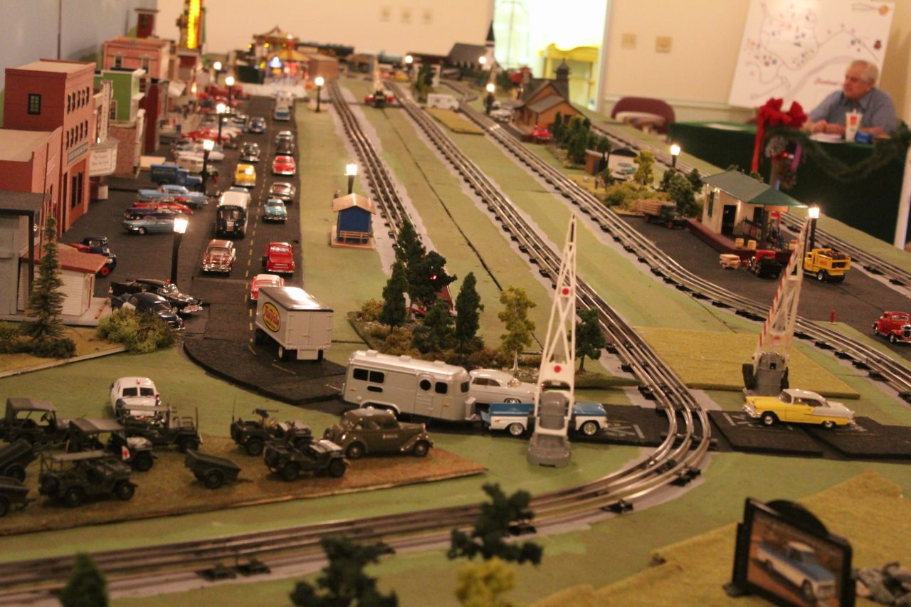 Just a small section of the model-train display...