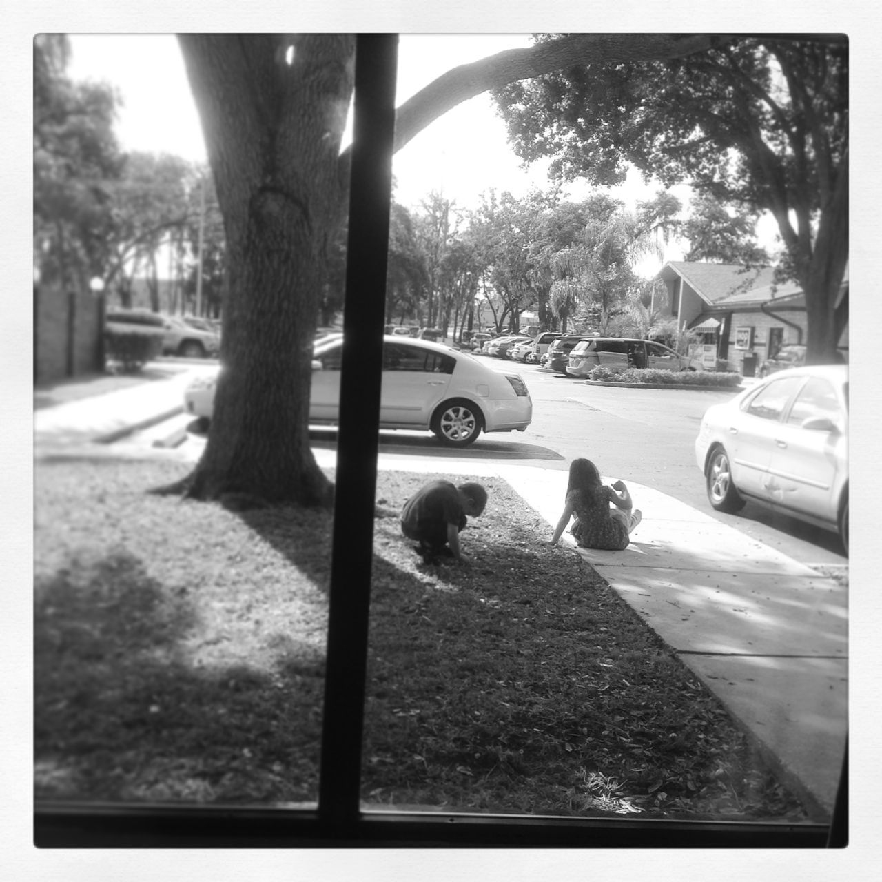 "Playing ""squirrel"" in Ramada Inn's parking lot..."