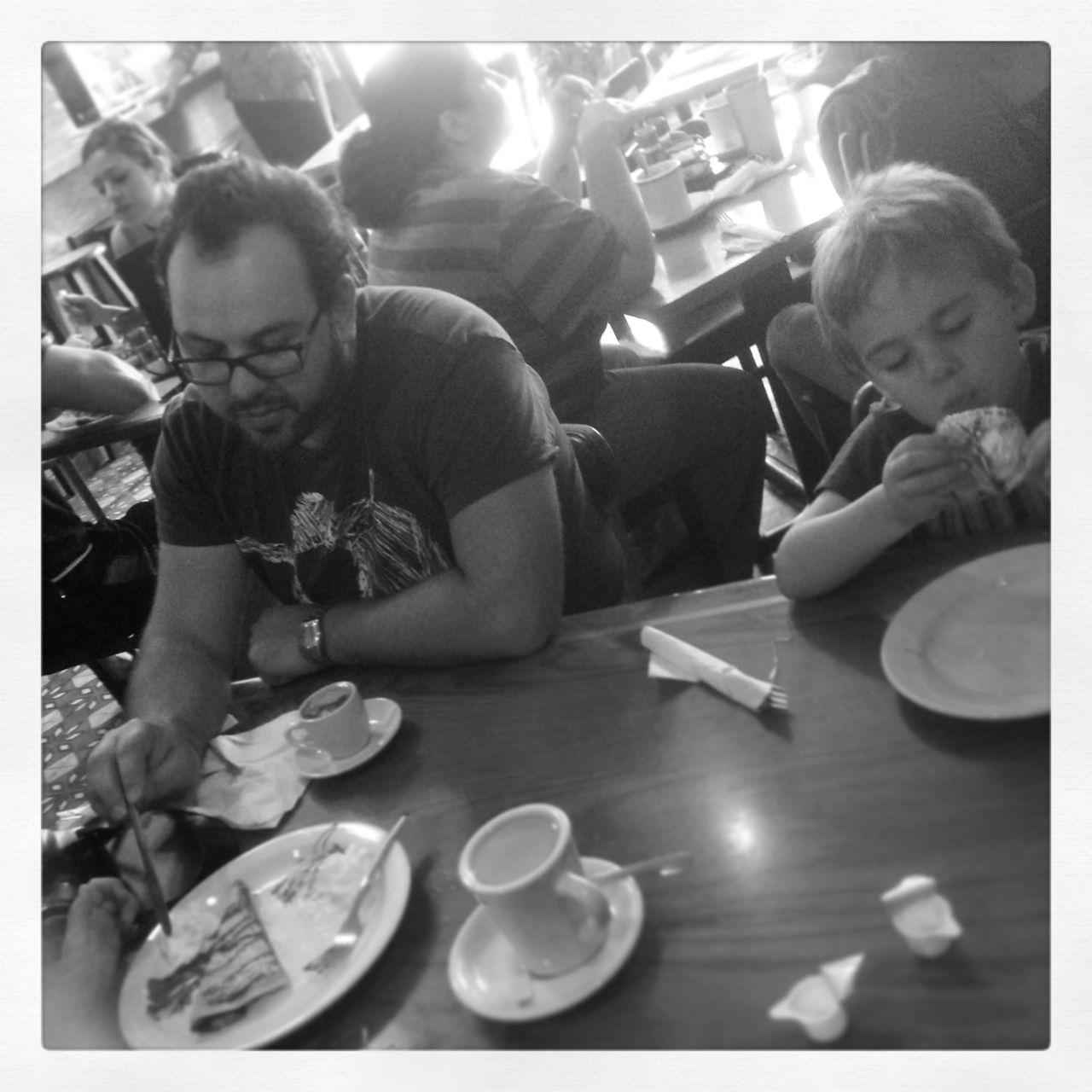 At the Greek restaurant in Ybor...