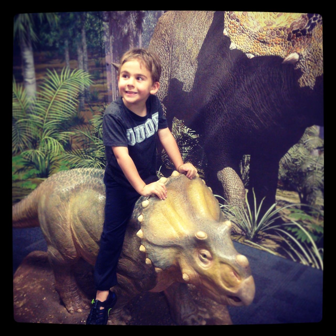 Child-sized dinosaurs to clamber on...