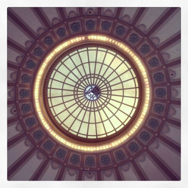 … and, if you stand in the middle of the lobby and look up, this is what you see…