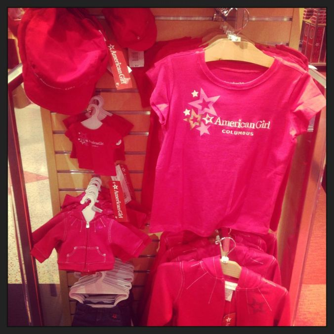 Want a matching pink outfit for you and your doll?  It's all the rage, apparently...