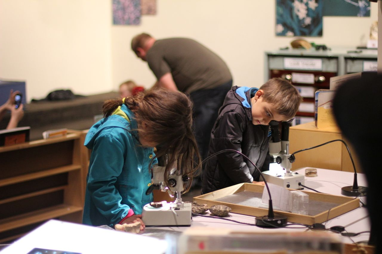 Morgan and Joah learning about various minerals (and microscopes) at the Natural History Museum in Washington DC...