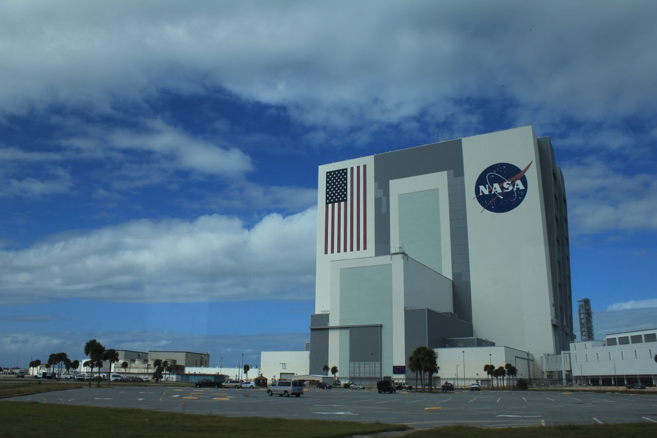 This is the (enormous) Vehicle Assembly Building and the Launch Control Centre...