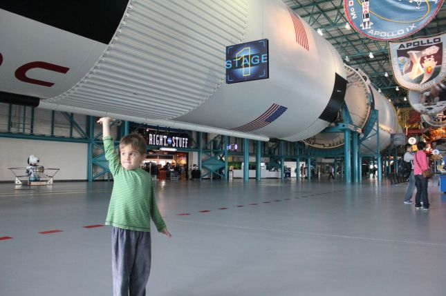 Joah holding up the Saturn...