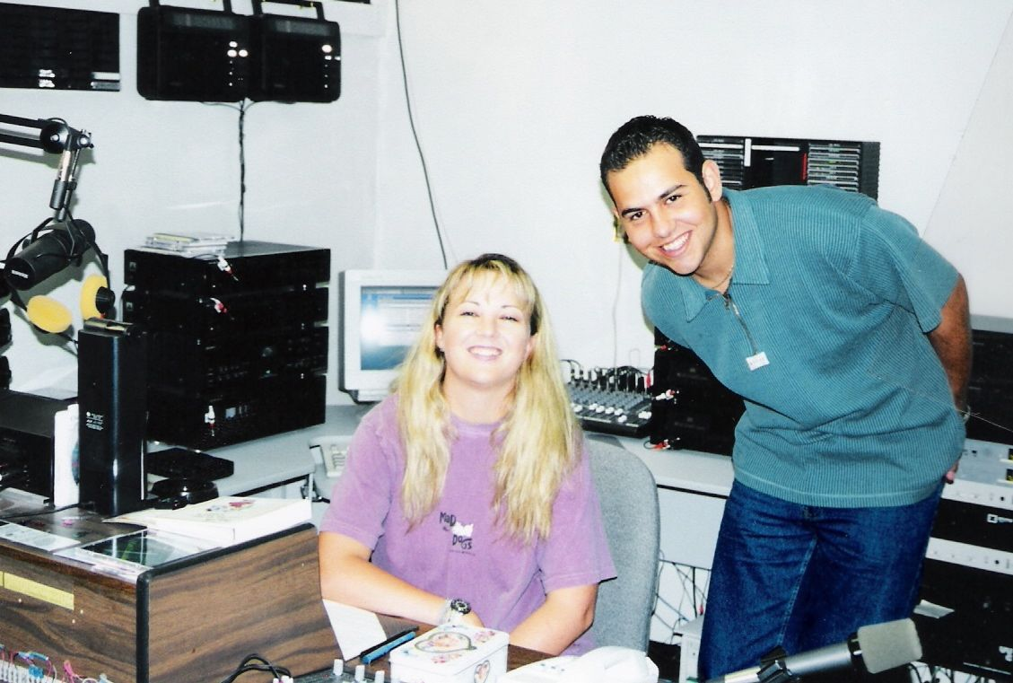 Nick and I at the Christian radio station in Titusville - 1998...