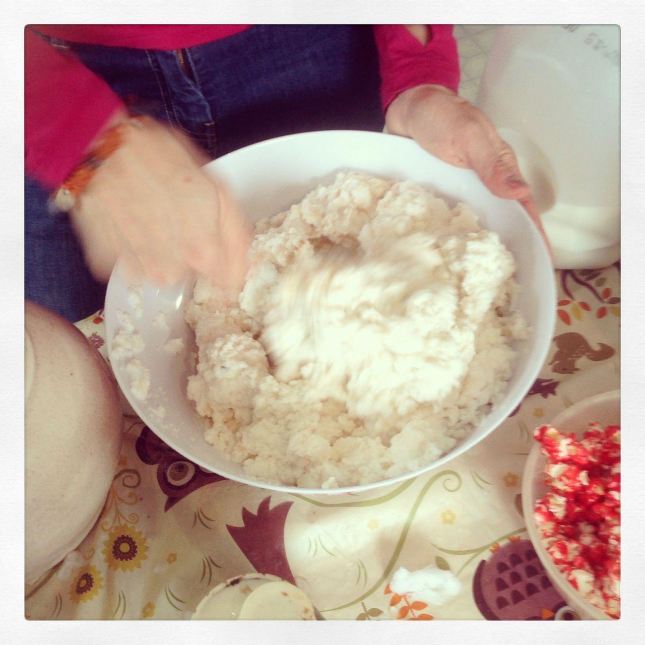 Snow ice-cream! Yummers!