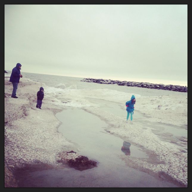 Another pic of icy, interesting Lake Erie...