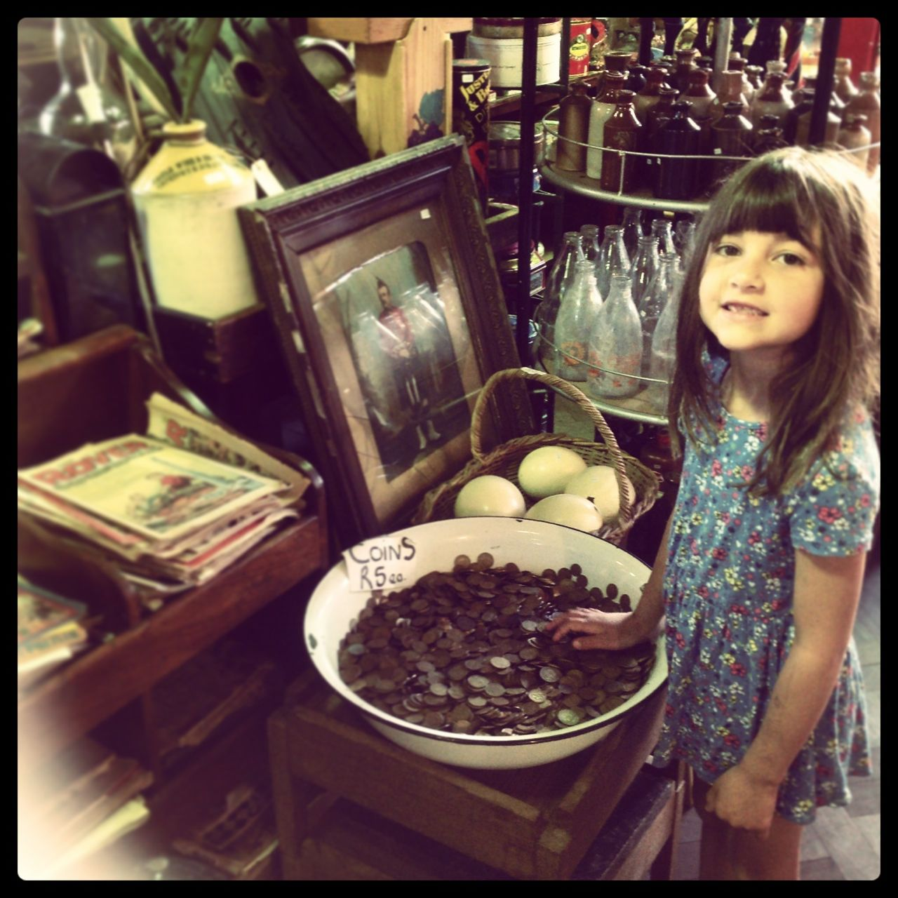 One of the interesting antique shops in Kalk Bay… we could browse in there for hours!