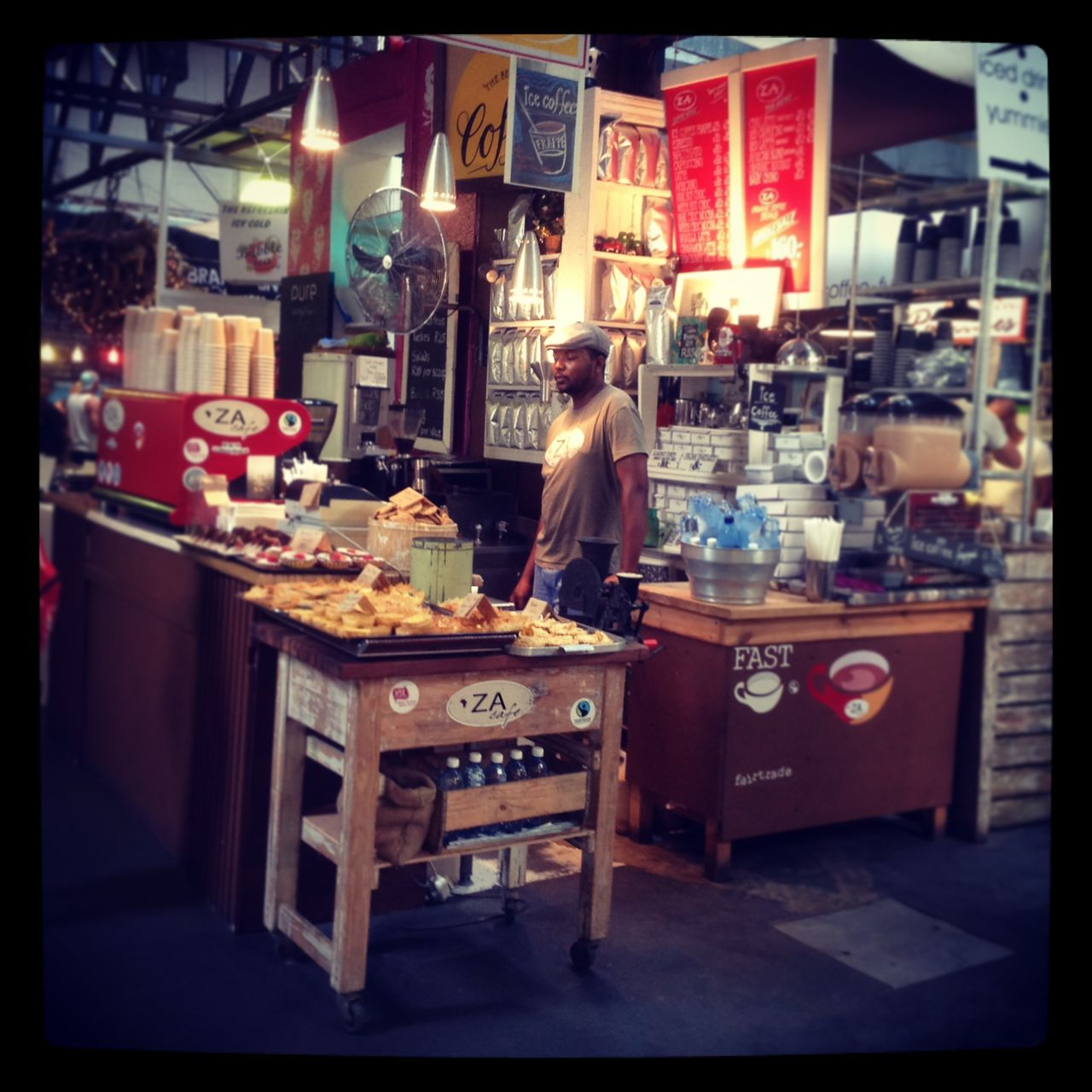 One of Cape Town's many yummy markets (where you can buy all kinds of freshly prepared food)...