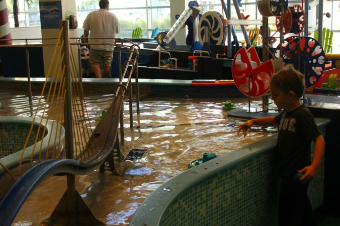 Loads of interactive water experiments at the Glazer Children's Museum in Tampa...