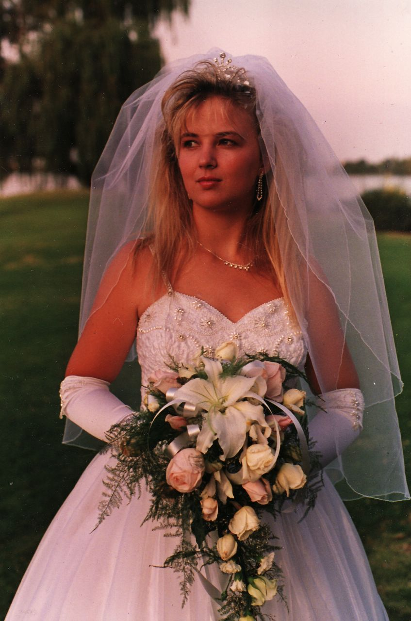 The 19 year old bride...