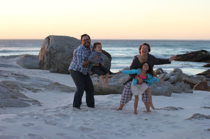 Us… Noordhoek Beach, Cape Town… April 2014.