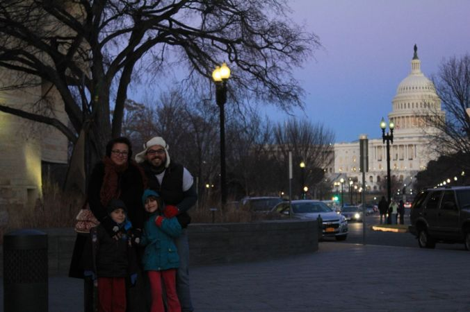 Us… in Washington DC… January 2014...
