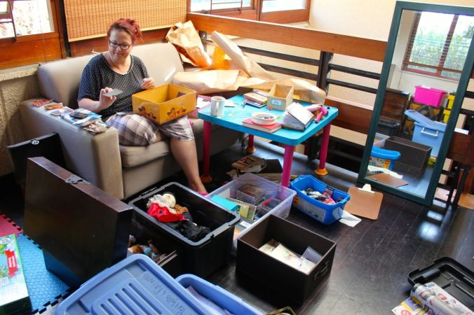 The big process of packing and purging (before we left)...