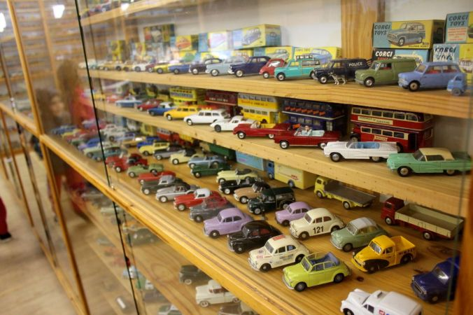 They had a very large collection of toy cars...