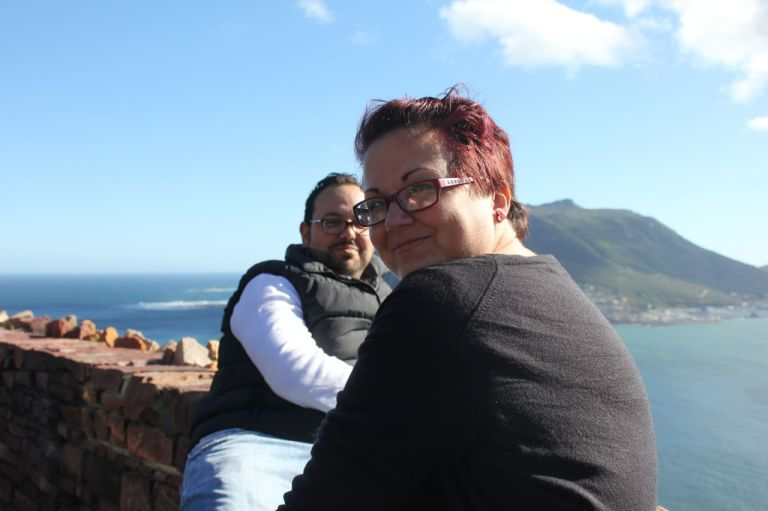 Nick and I at the top of Chapman's Peak...