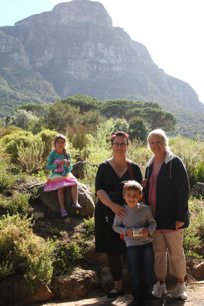 Me, Mom and the kids… at beautiful Kirstenbosch Gardens.