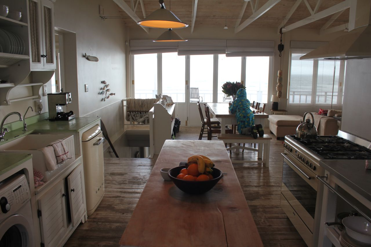 View from the kitchen over the dining area...