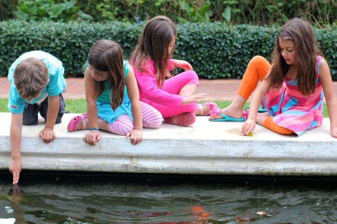 Cousins, fountains & fish...
