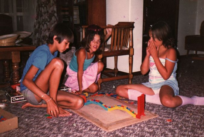 Indoor games with my sister and cousin...