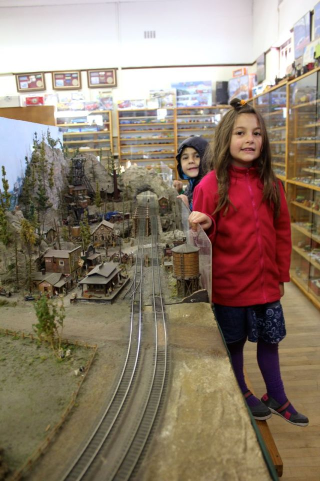 A small, model train set...