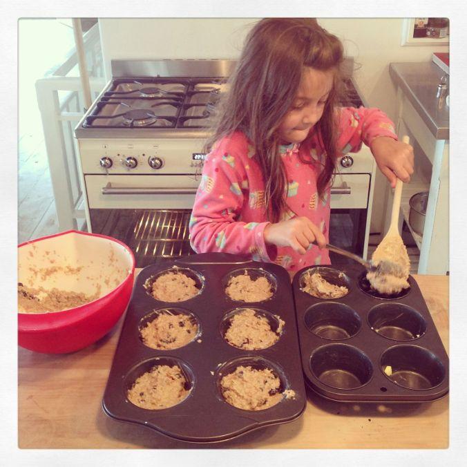 Baking bran muffins