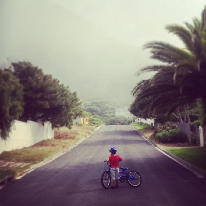 Bike riding in Noordhoek...