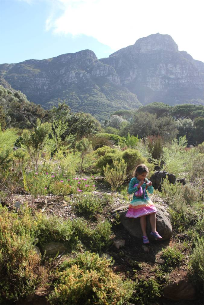 She loved her knitting so much, that she'd take her knitting with her to Kirstenbosch Gardens...