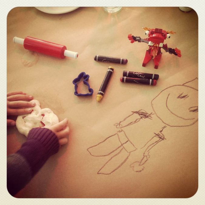 Drawings… lego… and pizza dough! :-)