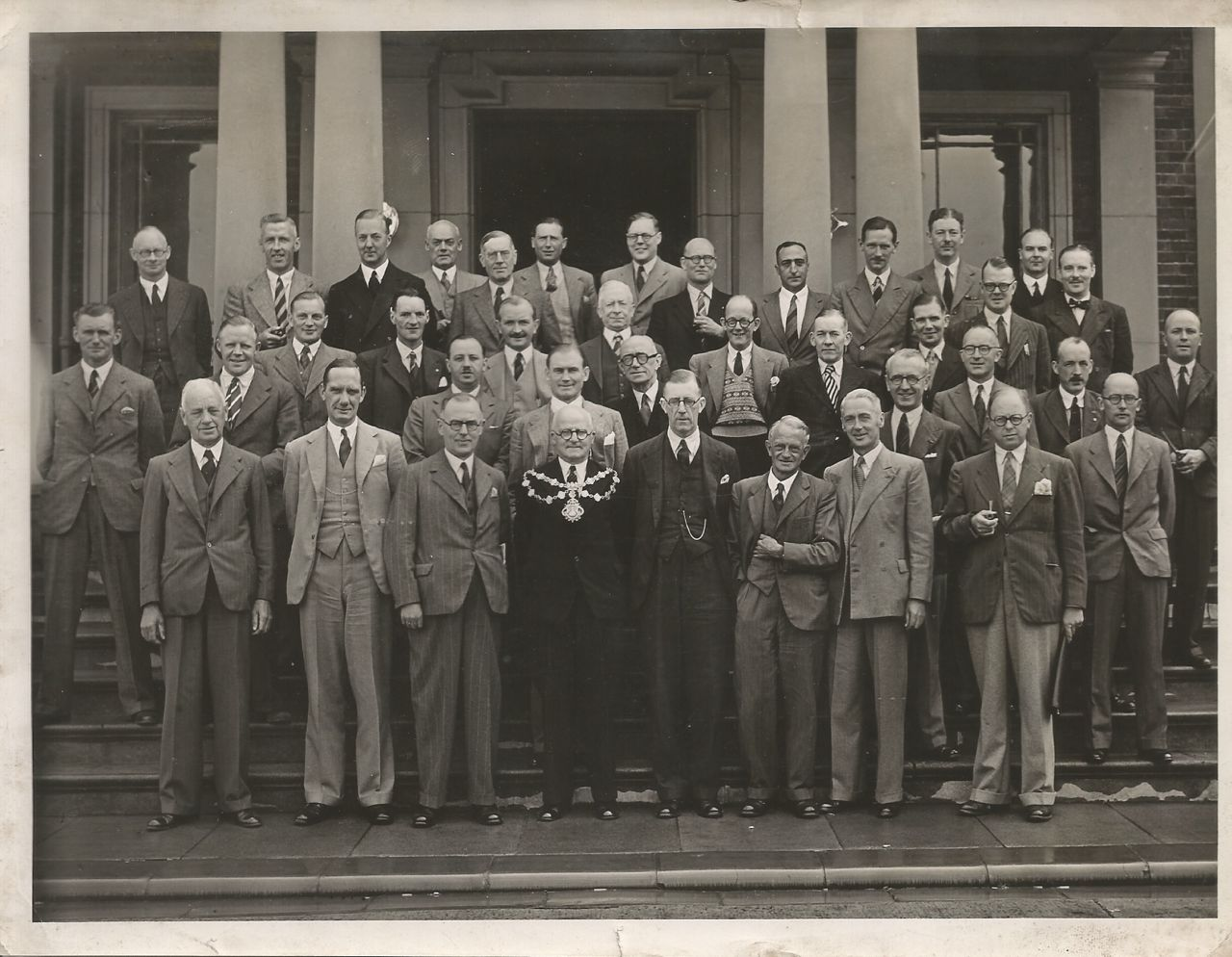 My Great-Grandad Herbert Willacy - the Mayor of Morecambe (obviously the guy wearing the fancy mayor-necklace)...