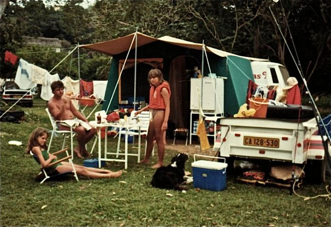 One of many family camping trips...