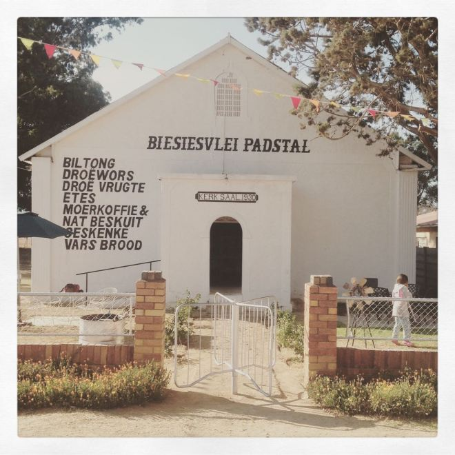 This farm-stall lives in a converted old church. We drank moer koffie and quaffed nat biskuit... and VERY divine vetkoek (traditional Afrikaans food for the international readers of this blog).